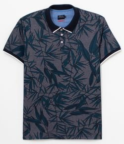 Polo Estampa Folhas Twisted