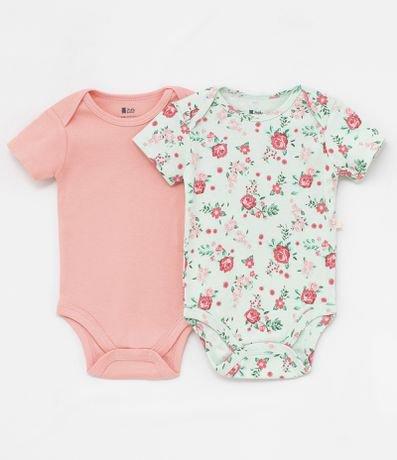 Kit Body Infantil Liso e Floral - Tam 0 a 18 meses