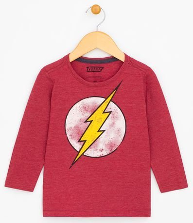 bd5f014e8 Camiseta Infantil com Estampa Flash - Tam 2 a 14
