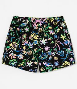 Short Estampa Artsy Floral