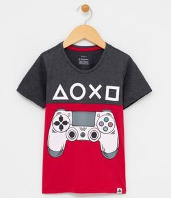 Remera Estampa Contrl Playstation Tam 5 a 14 años
