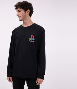 Camiseta com Estampa Playstation