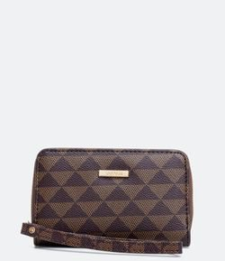 Cartera Femenina Estampa Triangulos
