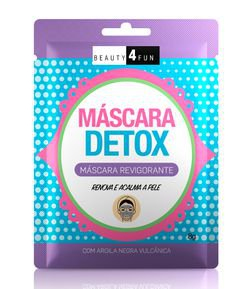 Máscara Facial Detox Revigorante Beauty 4 Fun
