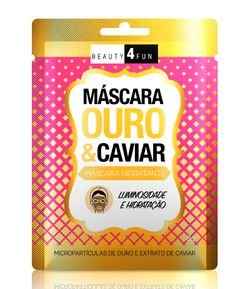 Máscara Hidratante Facial Ouro e Caviar Beauty 4 Fun
