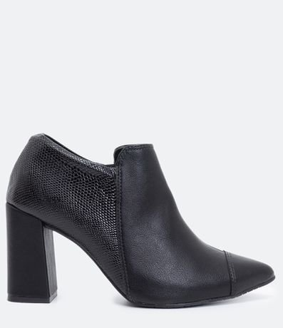177e2cb864 Sapato Feminino Salto Bloco Satinato Comfort