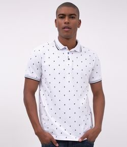 Camisa Polo Regular Estampada Barcos