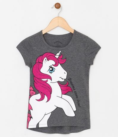 Blusa Infantil com Estampa My Little Pony - Tam 4 a 12 anos