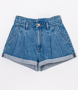 Short Jeans Clochard com Barra Dobrada