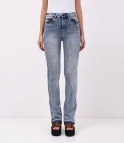 Calca Jeans Boot Cut Marmorizada