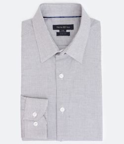 Camisa Manga Longa Slim Mini Grid