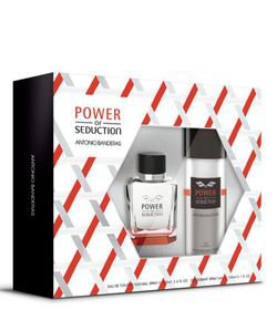Kit Antonio Banderas Power of Seduction Masculino Eau de Toilette + Desodorante
