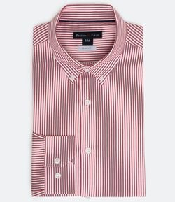 Camisa Manga Longa Slim Fit Estampa Listras Work