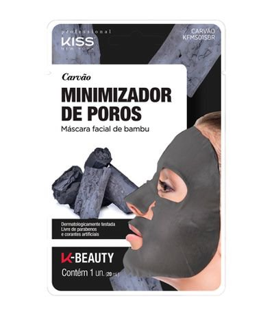 Máscara Facial de Bambu Carvão Kiss