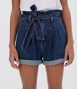 Short Jeans Clochard com Bolsos