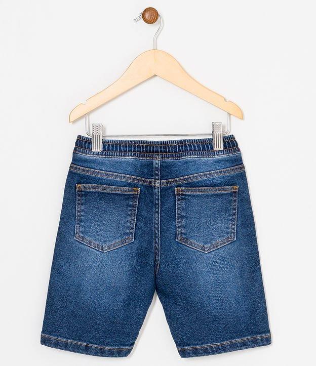 Bermuda Infantil Jeans Comfy com Amarração - Tam 5 a 14 anos   Fuzarka (5 a 14 anos)   Azul   5-6