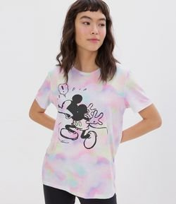 Camiseta Femenina Tie Dye Mickey Mouse