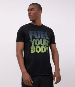 Camiseta Esportiva Lettering Fuel Your Body