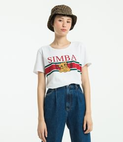 Blusa com Estampa Do Simba