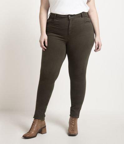 Calça Skinny Sarja Militar Curve & Plus Size