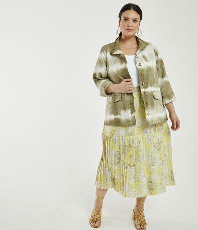 Jaqueta Parka Tie Dye Curve & Plus Size