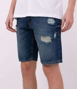 Bermuda Jeans Slim Destrayed