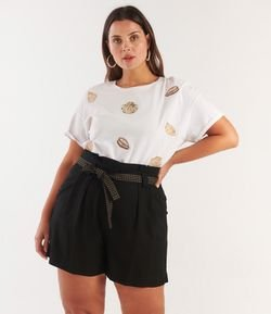 Short Clochard com Cinto Curve & Plus Size