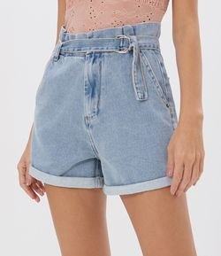 Short Jeans Clochard com Cinto