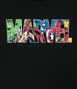 Camiseta Infantil Mini Me Estampa Marvel - Tam 4 a 14 anos