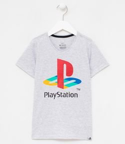 Camiseta Infantil Estampa Playstation Tam 5 a 14 años