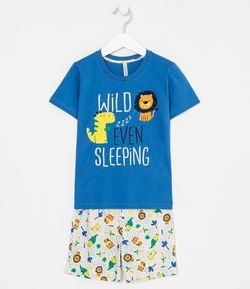 Pijama com Estampa Wild Ever Sleeping - Tam 1 a 4 anos