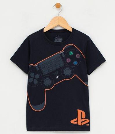Camiseta Infantil Estampa Playstation - Tam 5 a 14 anos