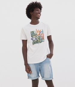 Camiseta Estampa Floral Be Wild