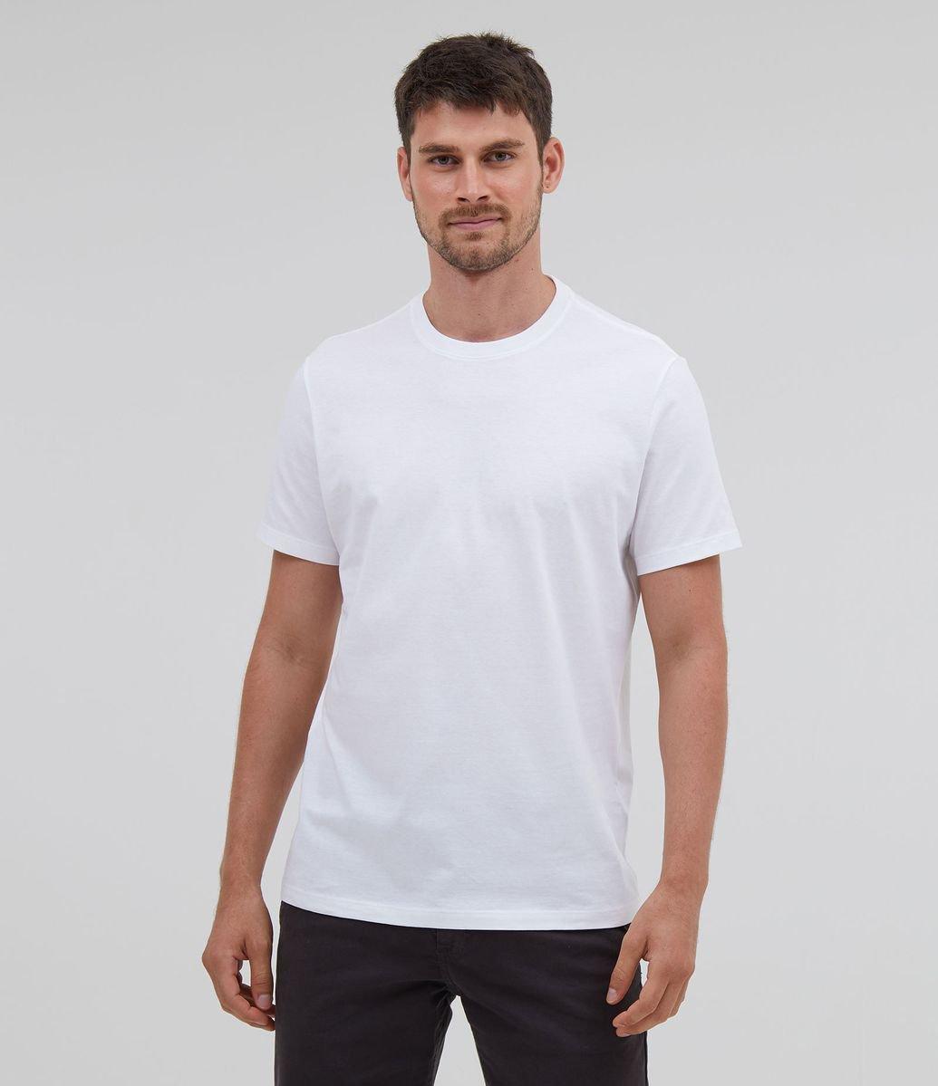 Camiseta Comfort branca em algodão peruano