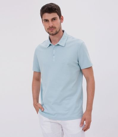 Polo Regular Fit Texturizada