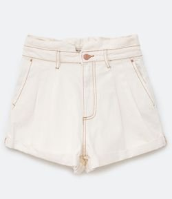 Shorts Clochard Jeans com Barra Dobrada
