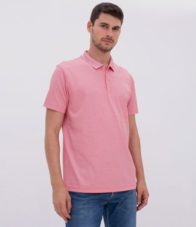 Camisa Polo Regular com Bordado