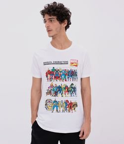 Camiseta Estampa Marvel Characters