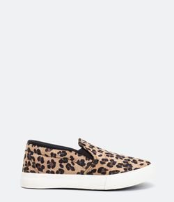 Tênis Infantil Slip On Animal Print Fuzarka - Tam 30 ao 37