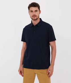 Camisa Polo Manga Curta Regular Fit Texturizada