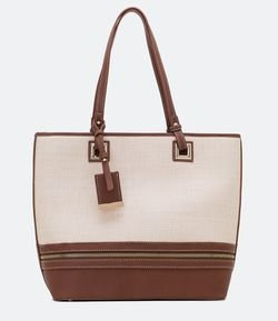 Cartera Shopper en Rafia