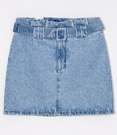 Saia Jeans Clochard com Fivela