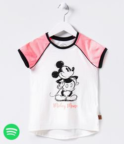 Blusa Infantil Neon Estampa Mickey Mouse - Tam 4 a 14 anos