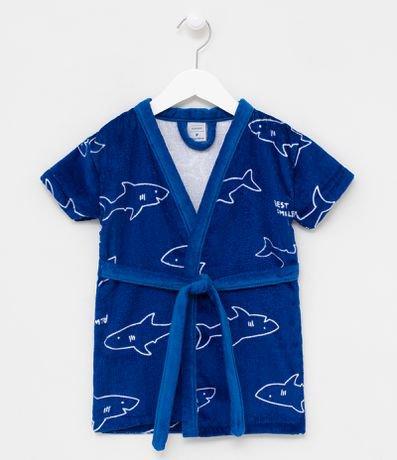 Roupão Infantil Estampa de Tubarões - Tam PP a GG