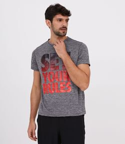 Camiseta Esportiva Estampa Lettering Set Your Rules