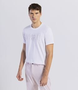 Camiseta Slim Estampa Invisible