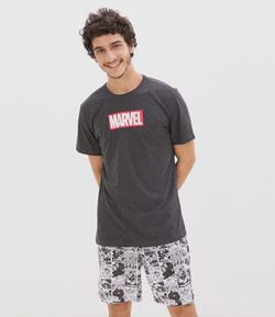 Pijama Curto Estampa Marvel