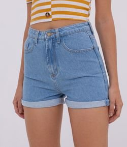 Short Jeans Mom Liso