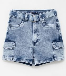 Short Jeans Hot Pants com Cinto