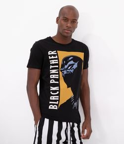 Camiseta Estampa Black Panter Estourado